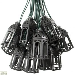 Solar Moroccan Lantern String Lights