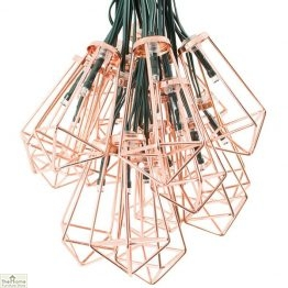 Solar Copper Lantern String Lights
