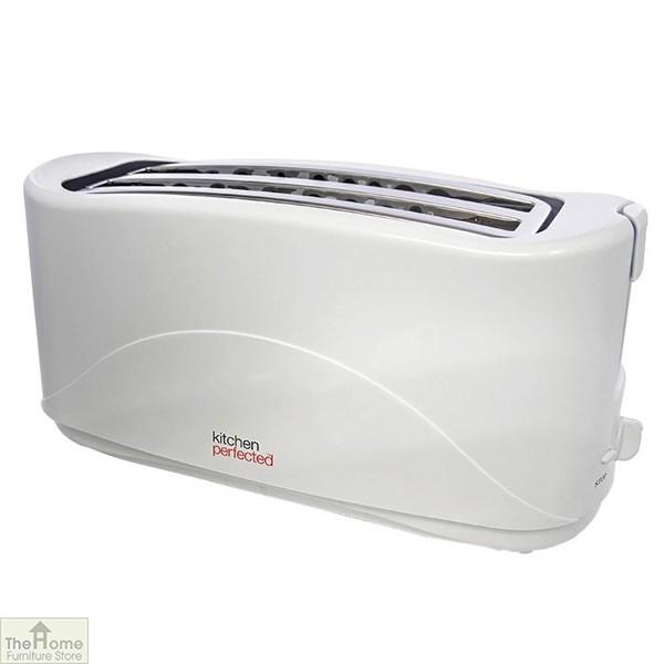 White 1300W 4 Slice Toaster