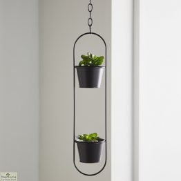Small Black Hanging Plant Holder_1
