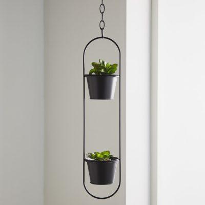 Small Black Hanging Plant Holder_1