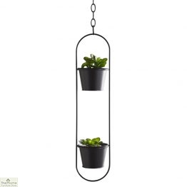 Small Black Hanging Plant Holder
