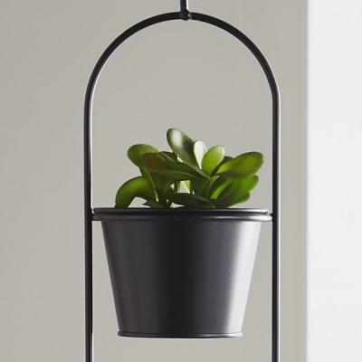Small Black Hanging Plant Holder_2
