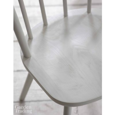 White Spindle Back Dining Chair_2