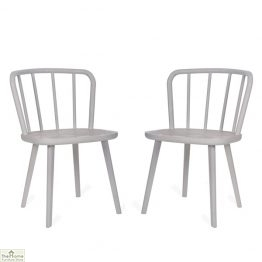 White Spindle Back Dining Chair