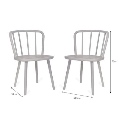 White Spindle Back Dining Chair_3