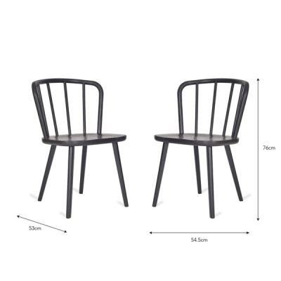 Carbon Spindle Back Dining Chair_2
