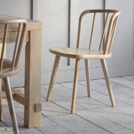 Natural Spindle Back Dining Chair_1