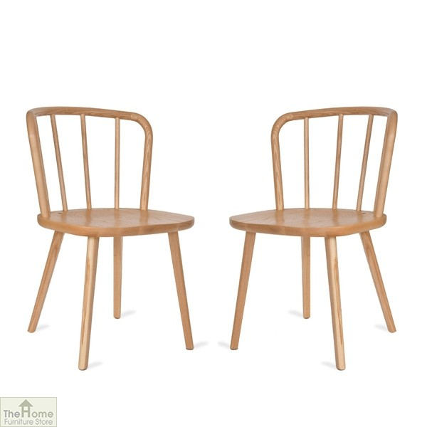 Natural Spindle Back Dining Chair
