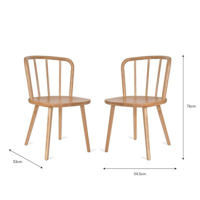 Natural Spindle Back Dining Chair_2