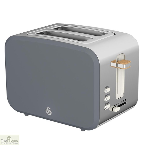 Grey Nordic 2 Slice Toaster
