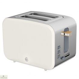 White Nordic 2 Slice Toaster