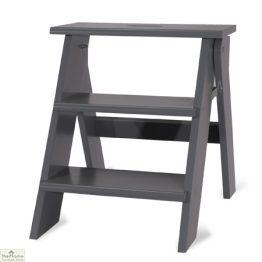Grey Folding Kitchen Steps