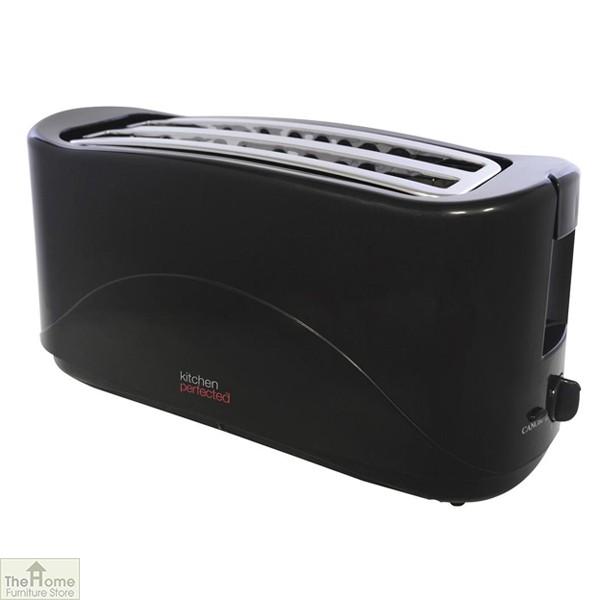 Black 1300W 4 Slice Toaster