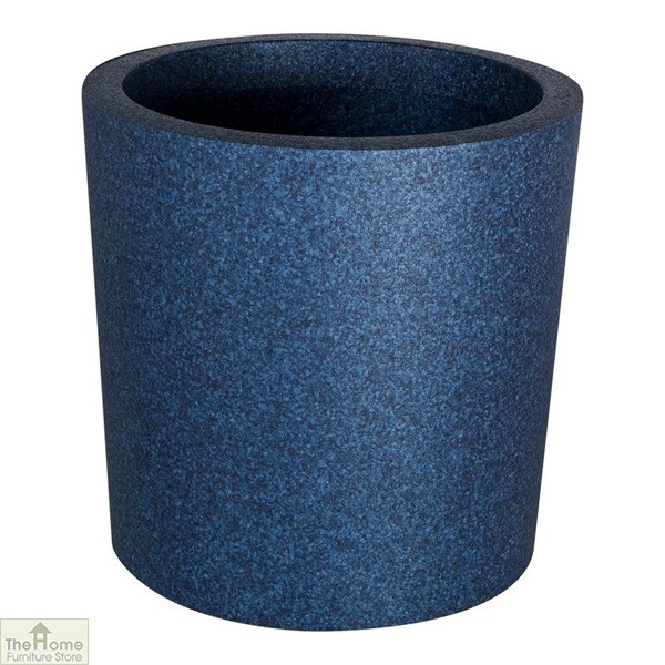 Blue Round Garden Flower Pot