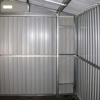 12 x 26 Grey Metal Garage_12