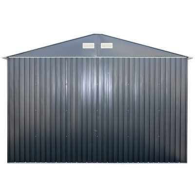 12 x 26 Grey Metal Garage_4