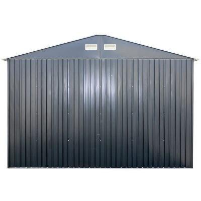 12 x 32 Grey Metal Garage_4