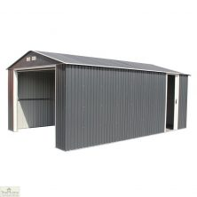 12 x 32 Grey Metal Garage