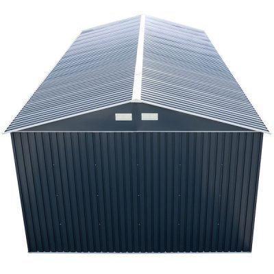 12 x 38 Grey Metal Garage_4