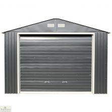 12 x 26 Grey Metal Garage