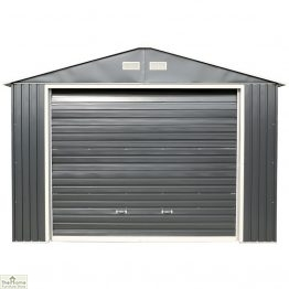 12 x 32 Grey Metal Garage_1