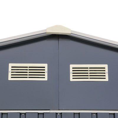12 x 32 Grey Metal Garage_5
