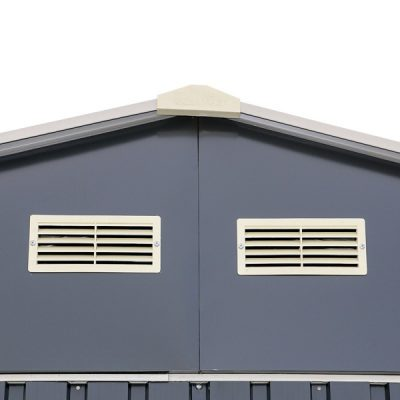 12 x 26 Grey Metal Garage_6
