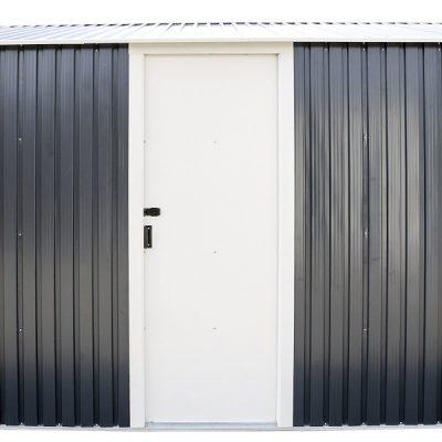 12 x 32 Grey Metal Garage_6