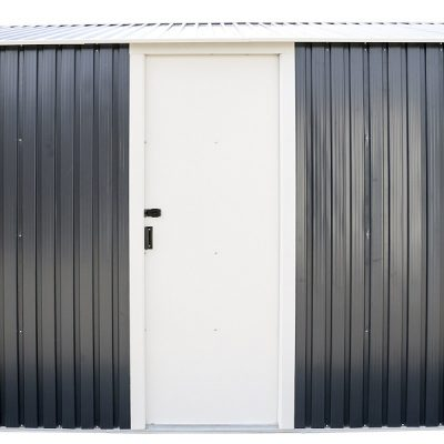 12 x 26 Grey Metal Garage_7