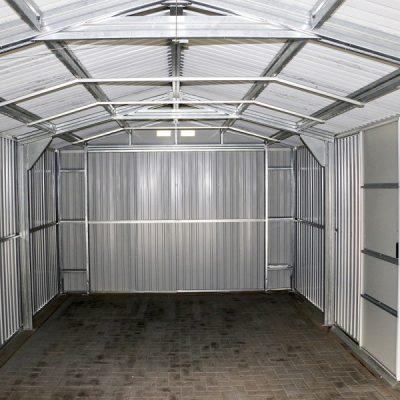 12 x 32 Grey Metal Garage_7