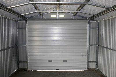 12 x 26 Grey Metal Garage_9