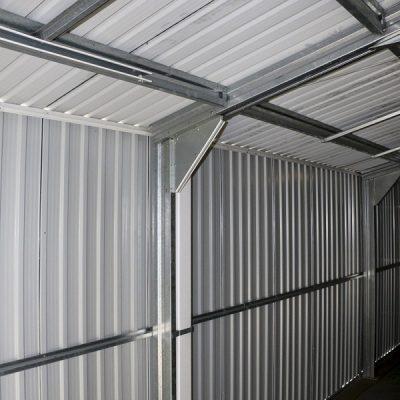 12 x 38 Grey Metal Garage_7