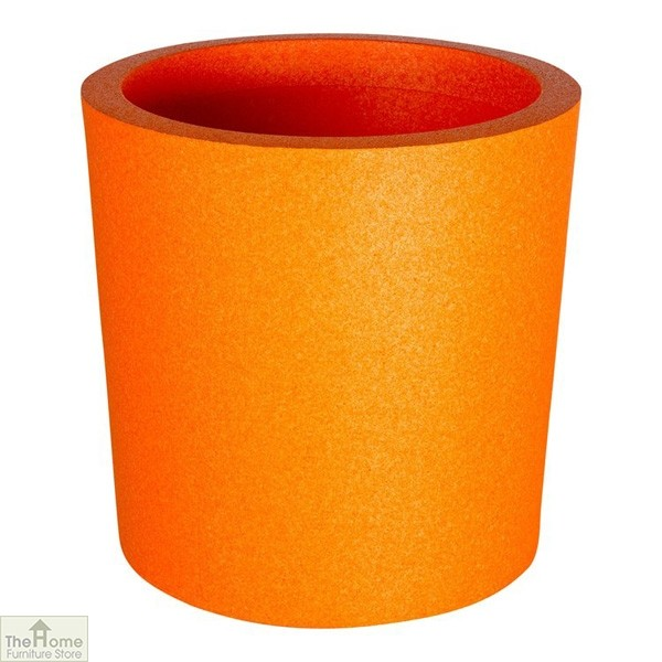 Orange Round Garden Flower Pot