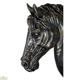 Antiqued Wall Mounted Horse Head Ornament