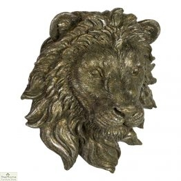 Bronzed Wall Mounted Lion Head Ornament