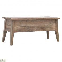 Oak Finish Wood Storage Chest_1