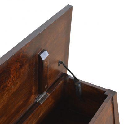 Walnut Finish Wood Storage Chest_7