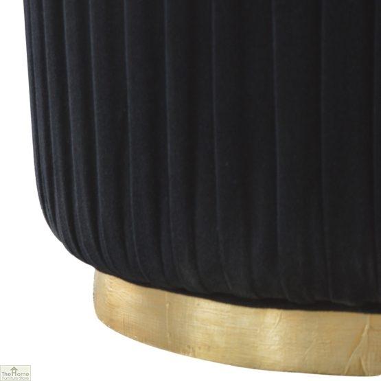 Black Pleated Velvet Footstool_4