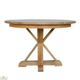 Trestle Base Round Dining Table