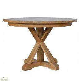 Trestle Base Round Dining Table_1