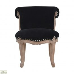 Velvet Studded Accent Chair _1