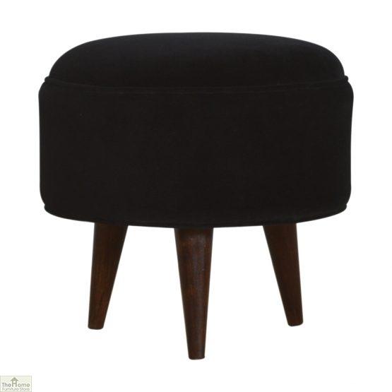 Nordic Style Velvet Upholstered Stool_11