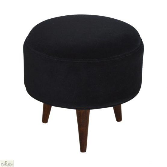 Nordic Style Velvet Upholstered Stool_12