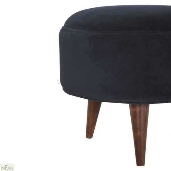 Nordic Style Velvet Upholstered Stool_14