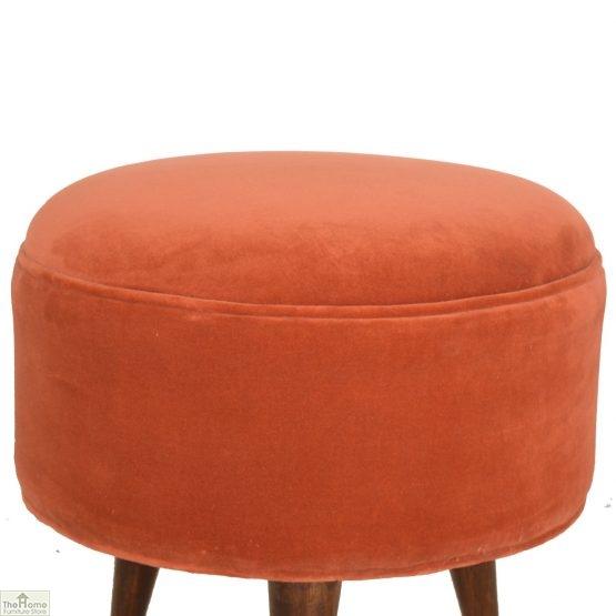 Nordic Style Velvet Upholstered Stool_6