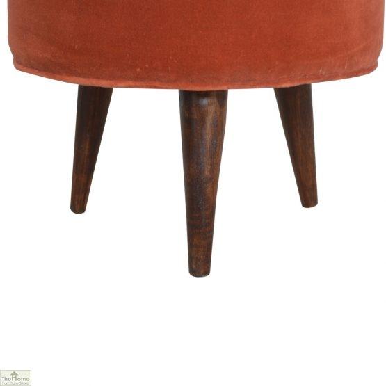 Nordic Style Velvet Upholstered Stool_7