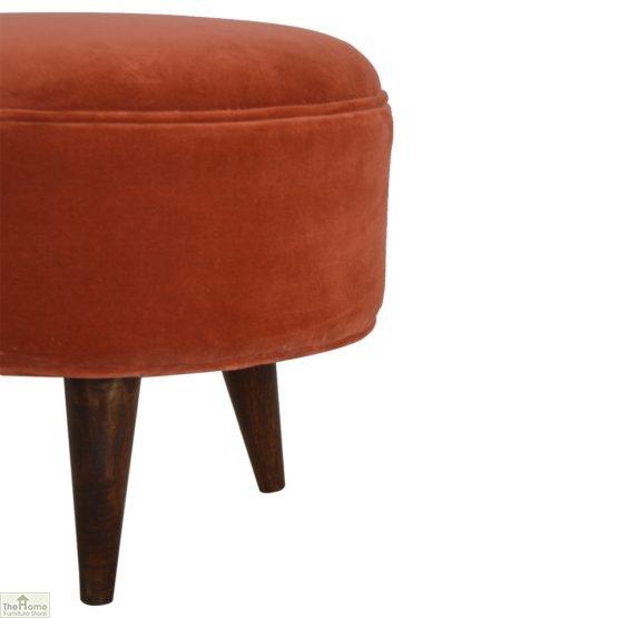 Nordic Style Velvet Upholstered Stool_8