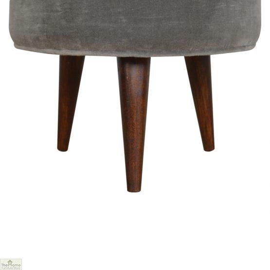 Nordic Style Velvet Upholstered Stool_2