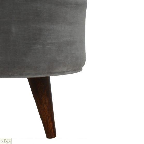 Nordic Style Velvet Upholstered Stool_3
